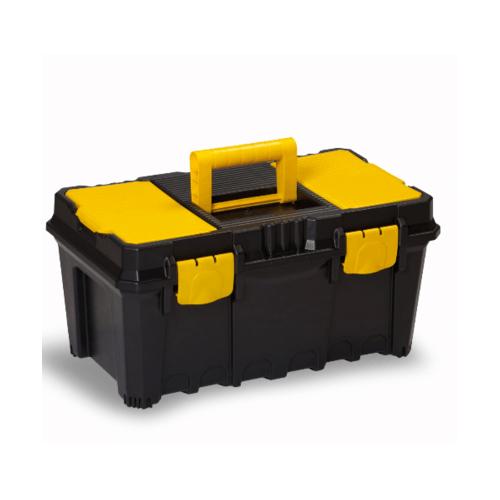 PORT-BAG กล่องเครื่องมือพลาสติก PB  AP-01 19นิ้ว สีเหลือง-ดำ  สีดำ