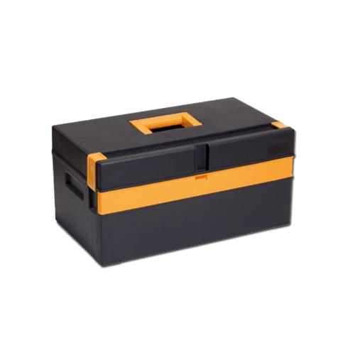 PORT-BAG กล่องเครื่องมือพลาสติก สีดำ-เหลือง PB 20นิ้ว CP-02