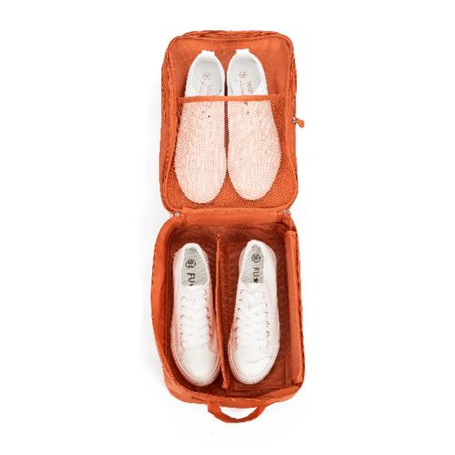 WETZLARS กระเป๋าจัดเก็บรองเท้า 2 ชั้น  ขนาด 22x12x30 cm   ZRH-021-OR  สีส้ม