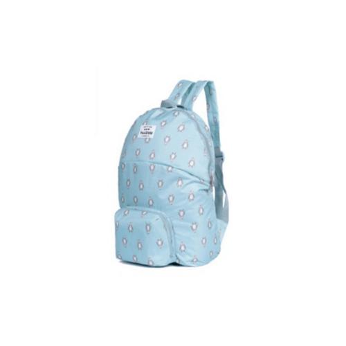 - กระเป๋าเป้พับเก็บได้  ขนาด 49x37 cm   ZRH-029-BB สีฟ้า