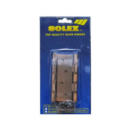 SOLEX บานพับ ขนาด 4x3 นิ้ว 4324 NO.3 AC (2PCS) สีแดง