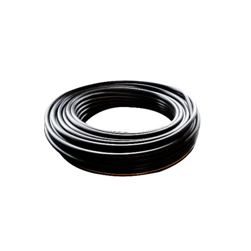 Super Products ท่อ LDPE  แรงดัน4 ขนาด 20 มม.200 ม.คาดส้ม (1/2นิ้ว) สีดำ