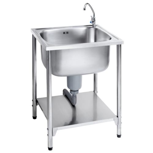 MEX อ่างล้างจานพร้อมขาตั้ง 1 หลุมไม่มีที่พัก PS706L-RO