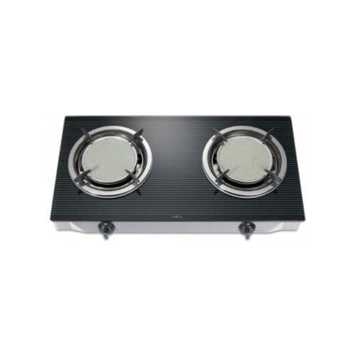 MEX เตาแก๊สตั้งโต๊ะ 2 หัวอินฟราเรดหน้ากระจก PC6792I  สีดำ