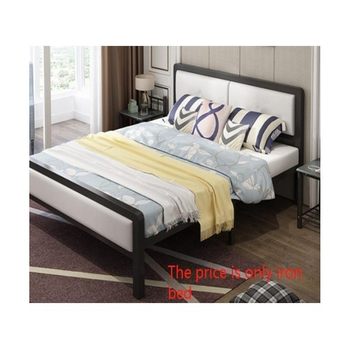 Truffle เตียงเหล็กหัวเบาะ 5ฟุต ขนาด 150x200x35cm T150-WT