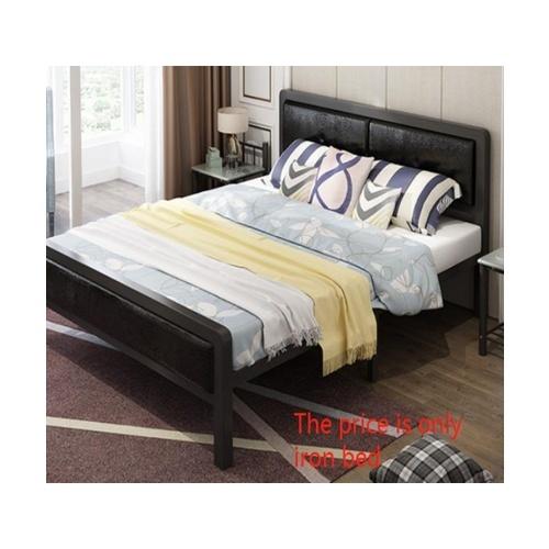 Truffle เตียงเหล็กหัวเบาะ 6ฟุต ขนาด 180x200x35cm T180-BR สีน้ำตาลเข้ม
