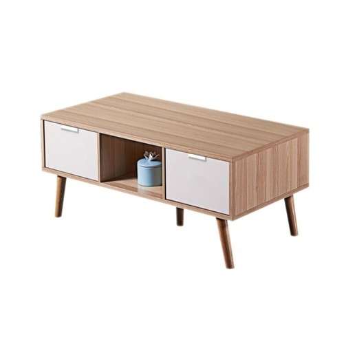 Local โต๊ะกลาง  60x120x44cm. 1206-WH สีขาว-ไม้