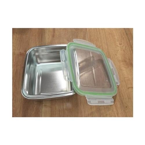 SANE SANE กล่องถนอมอาหารสเตนเลส PQS-BXH-03 18.5x18.5x6.5cm Silver  ขาว