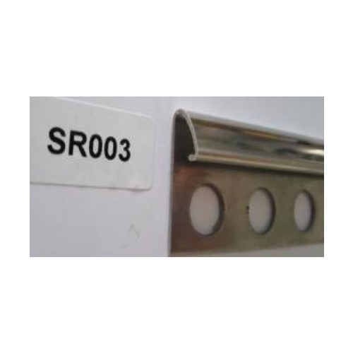 MAC MAC คิ้วโค้งสเตนเลสสตีล 304 สูง 10 มม หนา 0.6มม.  PQS-SR003-10 สีขาว