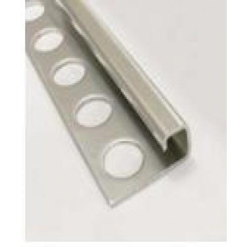 MAC  คิ้วกระเบื้องสเตนเลสสตีล 304 แบบเหลี่ยนม สูง 10 มม.  หนา 0.6มม.   PQS-SB013-10 สีขาว