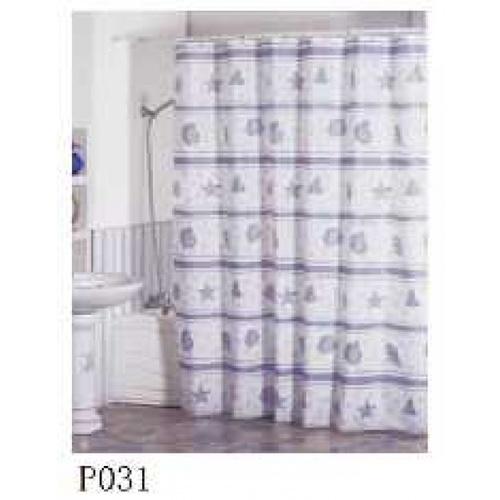 Primo  ม่านห้องน้ำโพลีเอสเตอร์  ขนาด 180×180cm ลายปลาดาว DDDF02 สีขาว