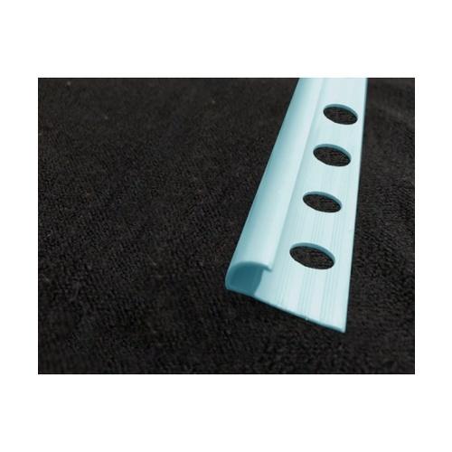 MAC คิ้วกระเบื้องโค้ง PVC   GGW-038-LBU 10mm สีฟ้า
