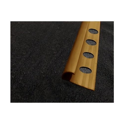 MAC  คิ้วกระเบื้องโค้ง PVC ขนาด 8mm   GGW-037-LBN สีน้ำตาล