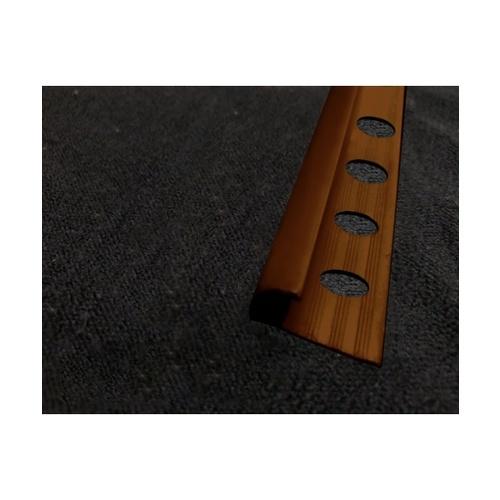MAC  คิ้วกระเบื้องโค้ง PVC  ขนาด8mm   GGW-037-DBN สีน้ำตาลเข้ม