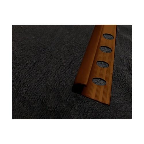 MAC  คิ้วกระเบื้องโค้ง PVC   GGW-038-DBN 10mm สีน้ำตาลเข้ม