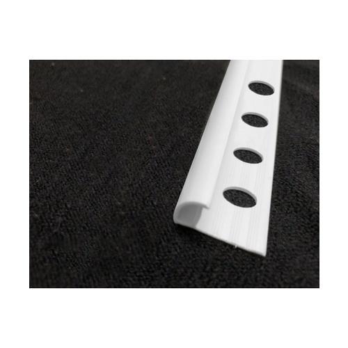 MAC  คิ้วกระเบื้องโค้ง PVC  GGW-037-WH 8mm สีขาว