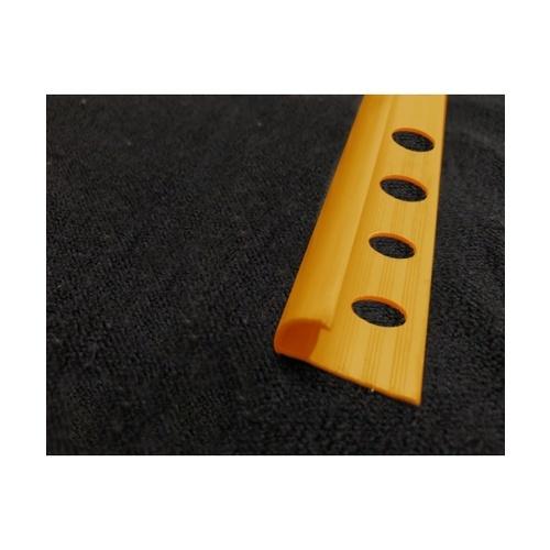 MAC  คิ้วกระเบื้องโค้ง PVC ขนาด 8mm  GGW-037-YE สีเหลือง