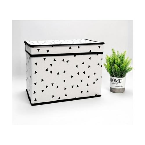 USUPSO กล่องเก็บของ geometric 1 ช่อง  ขนาดใหญ่ (#BK5) สีขาว