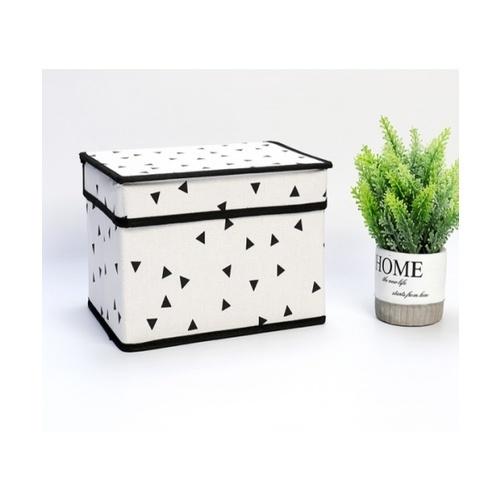 USUPSO กล่องเก็บของ geometric 1 ช่อง ขนาดเล็ก (#AA9) สีขาว