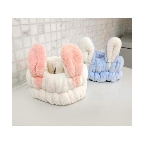 USUPSO USUPSO หมวกผ้าอาบน้ำหูกระต่าย คละสี (#BD)  ขาว