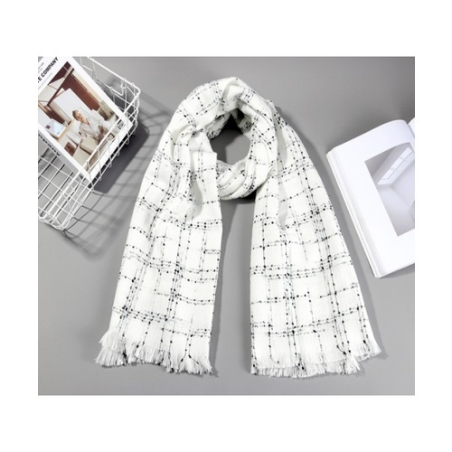 USUPSO USUPSO ผ้าพันคอ 3006 (#BM9)  ขาว