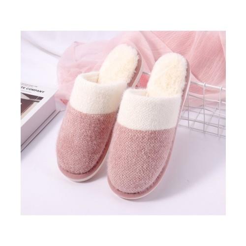 USUPSO USUPSO รองเท้าใส่ในบ้าน สีชมพู 37-38 (#BO9)  ขาว