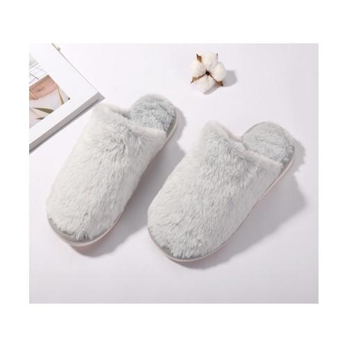 USUPSO  รองเท้าใส่ในบ้าน สีเทาอ่อน 41-42  (#BU9) สีเทา