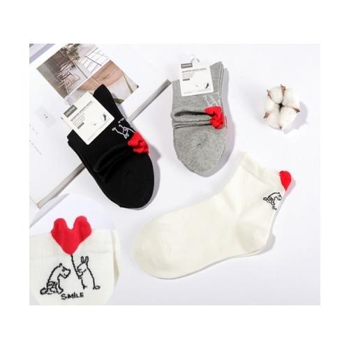 USUPSO USUPSO ถุงเท้าข้อสั้น (#AA5)  ขาว