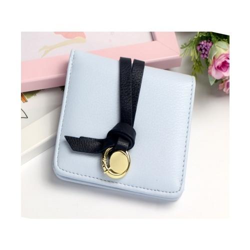 USUPSO  กระเป๋าเงินผู้หญิงแบบสั้น  สีฟ้า