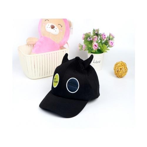 USUPSO  หมวกแก๊ปเบสบอลเด็กปักวงกลม  - สีดำ