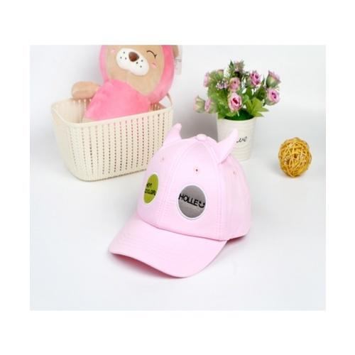 USUPSO หมวกเบสบอลเด็กปักวงกลม - สีชมพู