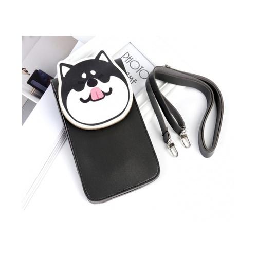 USUPSO  กระเป๋าโทรศัพท์มือถือ  Zucchini zoo สีดำ