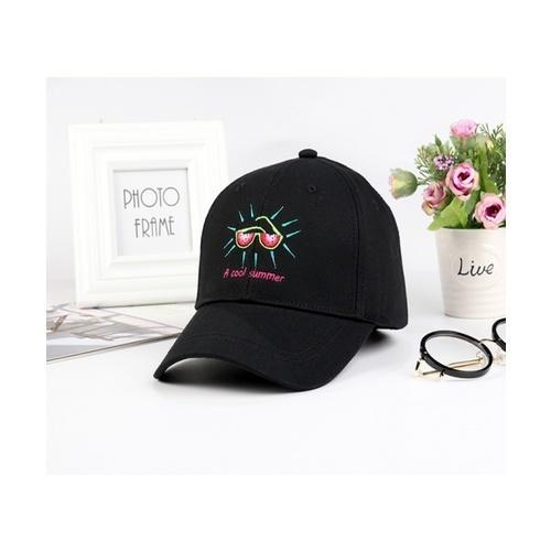 USUPSO หมวกเบสบอลปักลายมินิชิค - สีดำ