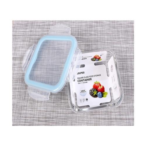 USUPSO USUPSO กล่องอาหารลทรงสี่เหลี่ยม 550 มล. - สีขาว