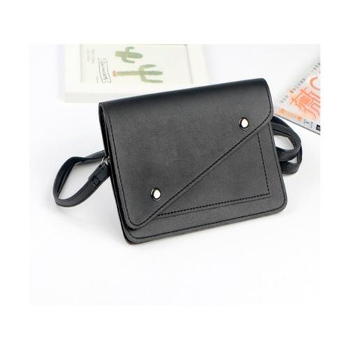 USUPSO  กระเป๋าใส่มือถือแบบเรียบ  สีดำ
