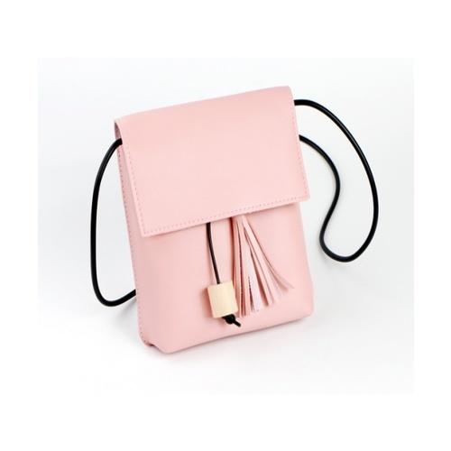 USUPSO  กระเป๋าสะพายไหล่   สีชมพู