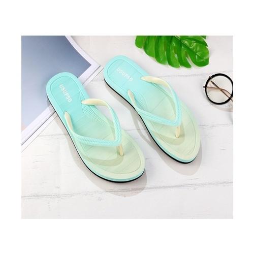 USUPSO  รองเท้าแตะผู้หญิง Gradient - Powder - 38 - สีเขียว