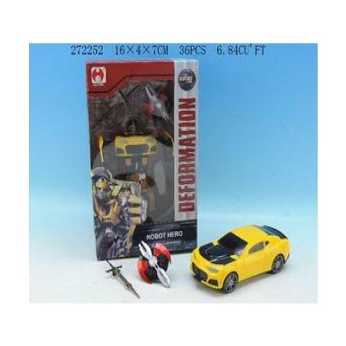 Sanook&Toys รถของเล่นDeformation of the car 272252 สีเหลือง