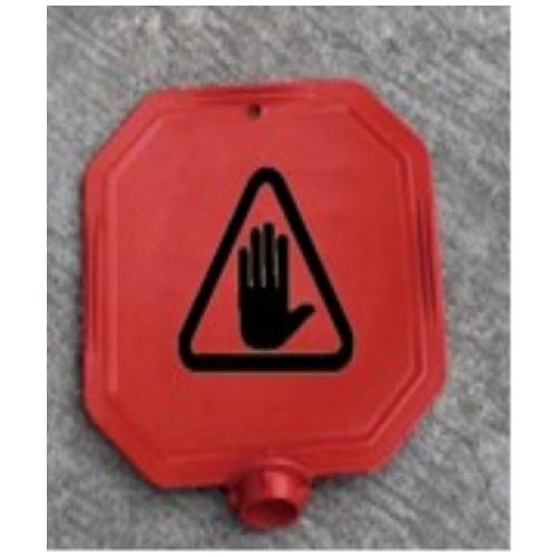 Protx ป้ายเตือนหัวเสา งดใช้บริการ  PQS-RS55x  สีแดง