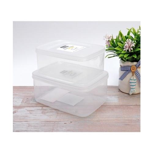 USUPSO  ชุดกล่องถนอมอาหาร 2ชิ้น  (#BI9) สีขาว