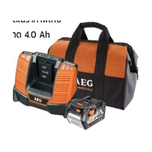 AEG ชุดแบตเตอรี่ 18V.+แท่นชาร์จ Brushless Starter Kit AEG Starter Kit AEG