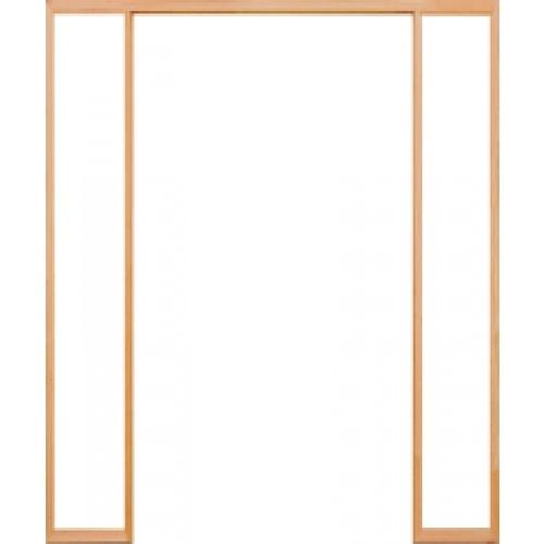 D2D วงกบประตูไม้ดักลาสเฟอร์ ขนาด 200x220cm. FJ COM.3