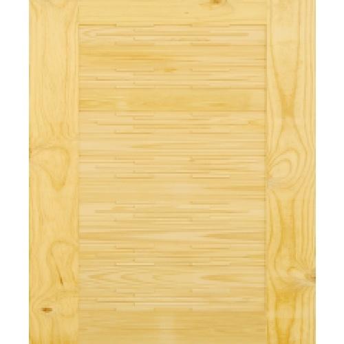 D2D ประตูไม้สนนิวซีแลนด์ ขนาด 80x220cm.  D2D-114