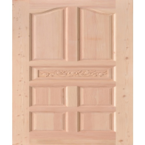 D2D ประตูไม้ดักลาสเฟอร์ ขนาด  90x200cm. Eco Pine -010