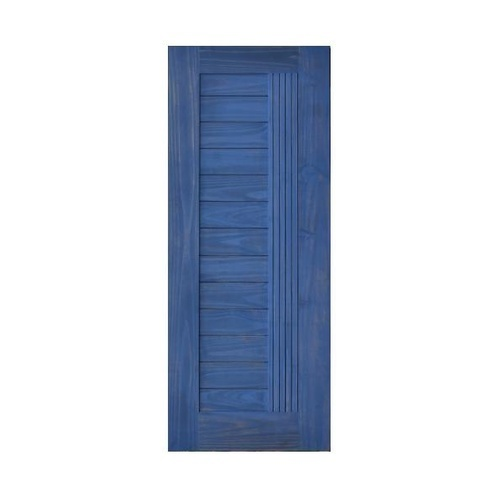 D2D ประตูไม้สนNz บานทึบทำร่อง ขนาด 70x200cm. แบล็คแอช  D2D-511