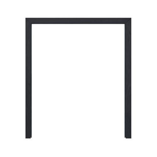 D2D วงกบประตูไม้ดักลาสเฟอร์ ขนาด140x200cm. แบล็คแอช FJ COM.2  สีดำ