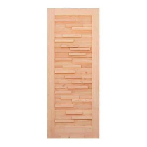 D2D ประตูไม้ดักลาสเฟอร์ บานทึบทำร่องขนาด 70x195cm.   Eco Pine-030