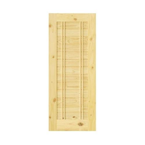 D2D ประตูไม้สนNz บานทึบทำร่อง ขนาด100x200ซม. Eco-Ezero 6