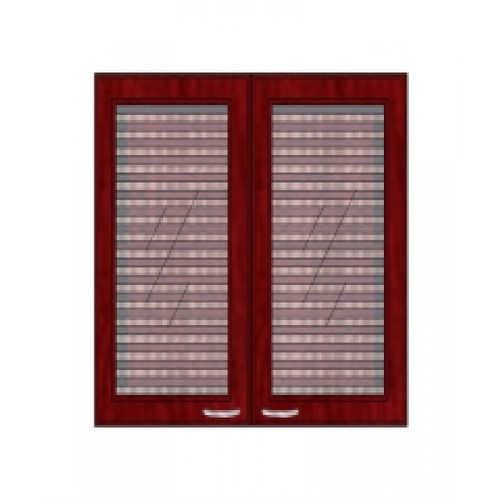 ตู้แขวนบานกระจกตรงใส W608GL-MK  มะค่า