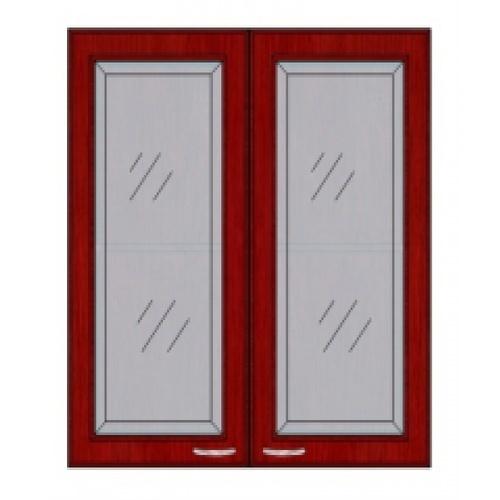 ตู้แขวนคู่กระจกตรงใส W808GL-MK สีมะค่า MJ  มะค่า